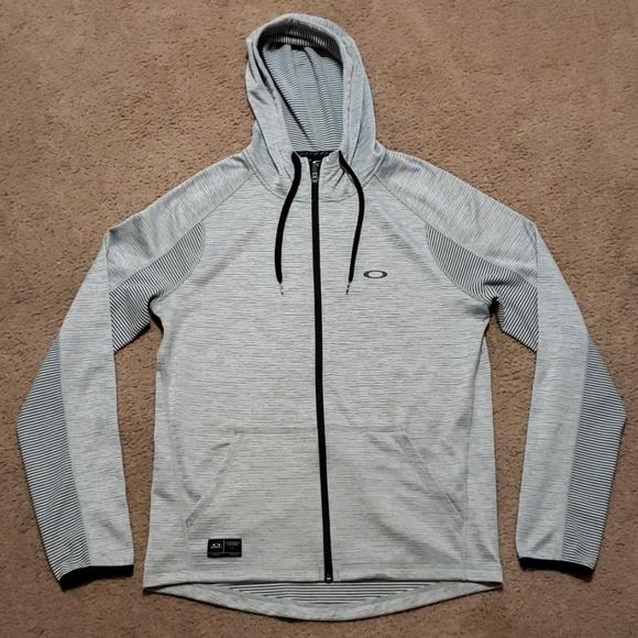 M Sweatshirt Black Striped Zip White Oakley Hoodie Pn0Owk